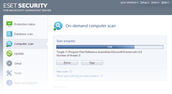 ESET Collaboration Screenshot