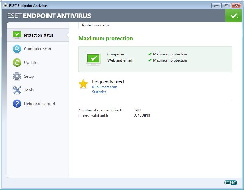 ESET Endpoint Antivirus Screenshot