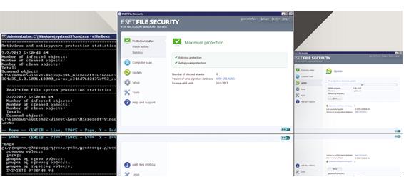 ESET File Security Screenshot